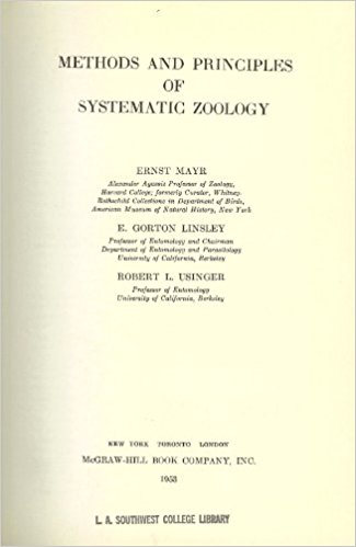 Foto do produto Methods and Principles of Systematic Zoology