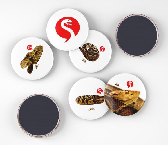 Foto do produto Buttons Canal Papo de Cobra