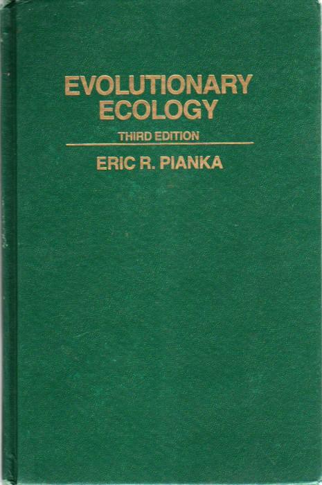 Foto do produto Evolutionary Ecology Third Edition