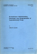 Evolutionary relationships, osteology, and zoogeography of leptodactyloid frogs