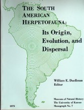 The South American herpetofauna: Its origin, evolution, and dispersal
