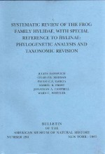 Systematic review of the frog family Hylidae...