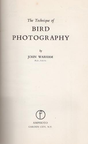 Technique of Bird Photography