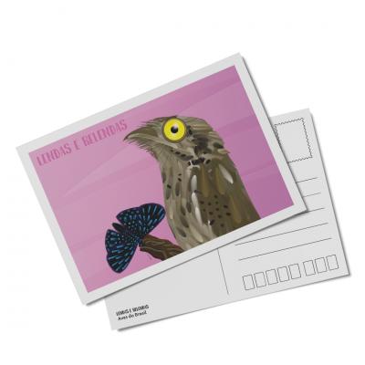 Cartão postal Lendas e Relendas das Aves do Brasil