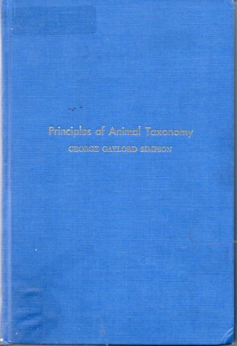 Principles of Animal Taxonomy