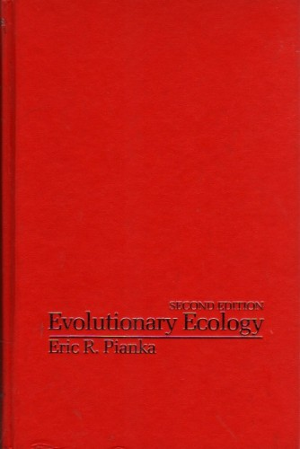 Evolutionary Ecology Second  Edition