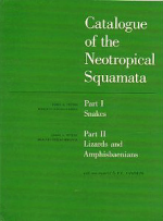 Foto do produto Catalogue of the Neotropical Squamata (Volume único - 1986)