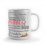 """Foto do produto Caneca  """"Taxonomia  AMPHIBIA-REPTILIA"""""""